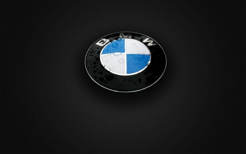 BMW gray carbon fiber logos wallpaper