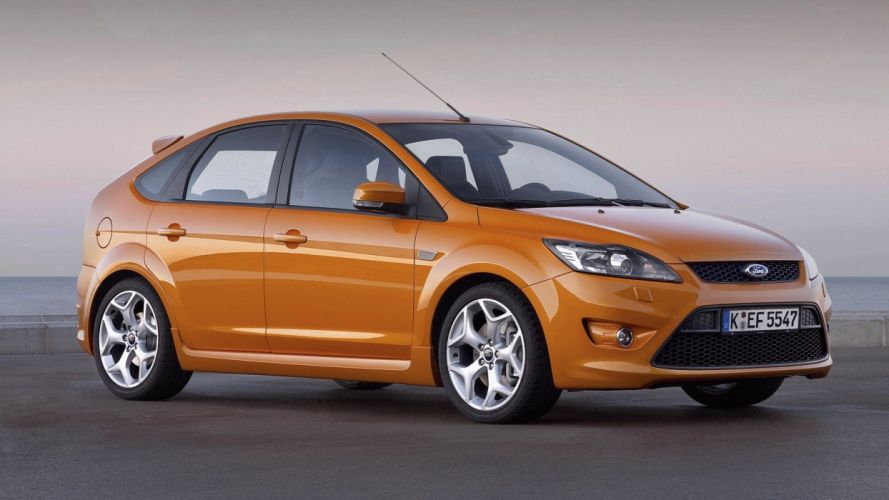 cars orange Ford Ford Focus Ford Focus ST side view wallpaper