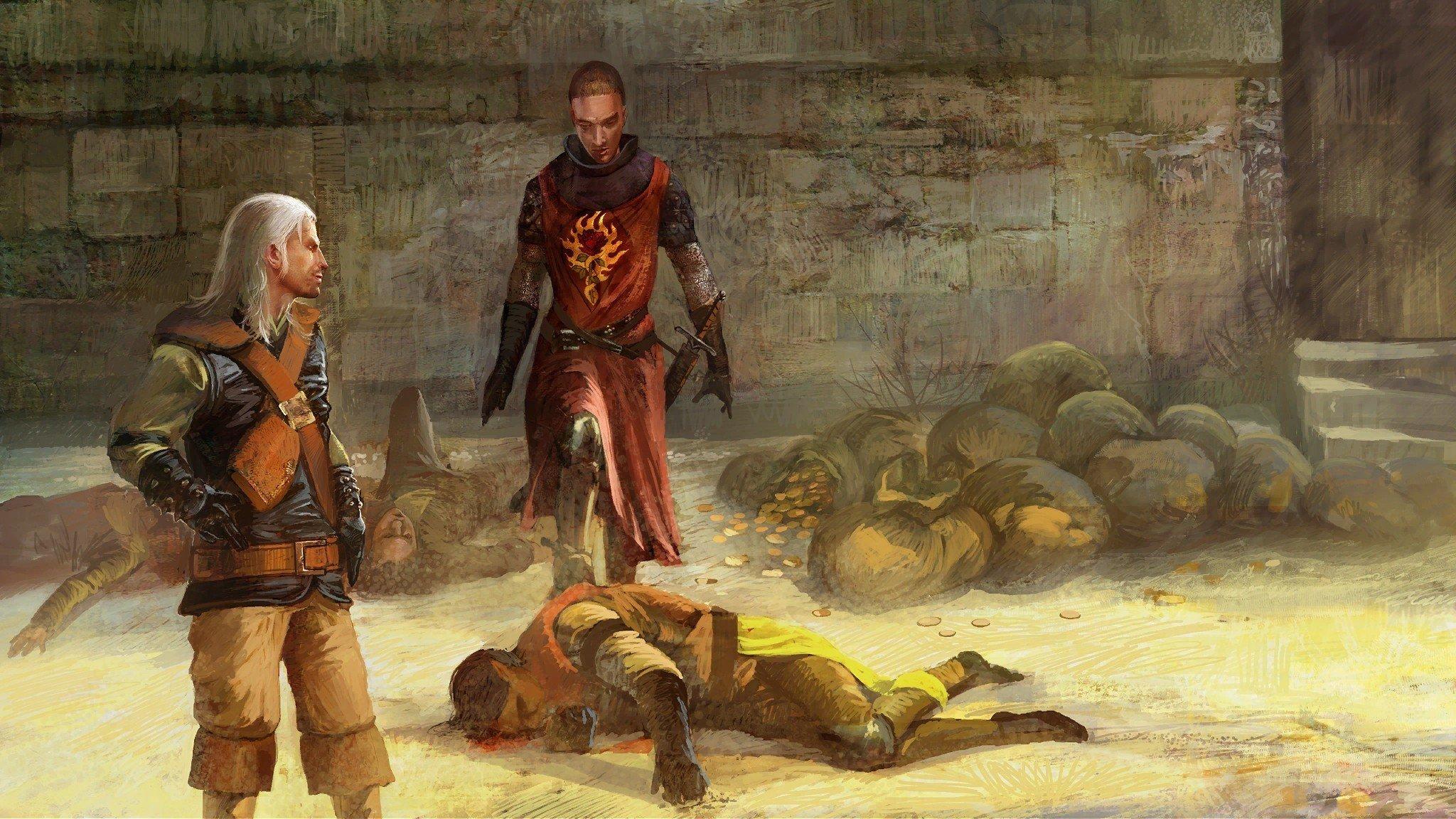 Video Games Rpg The Witcher Fantasy Art Artbook Artwork Geralt Of Rivia The Witcher 2 Assassins Of Kings Swords Anjey Sapkovsky Pc Games Wallpaper 2048x1152 293608 Wallpaperup
