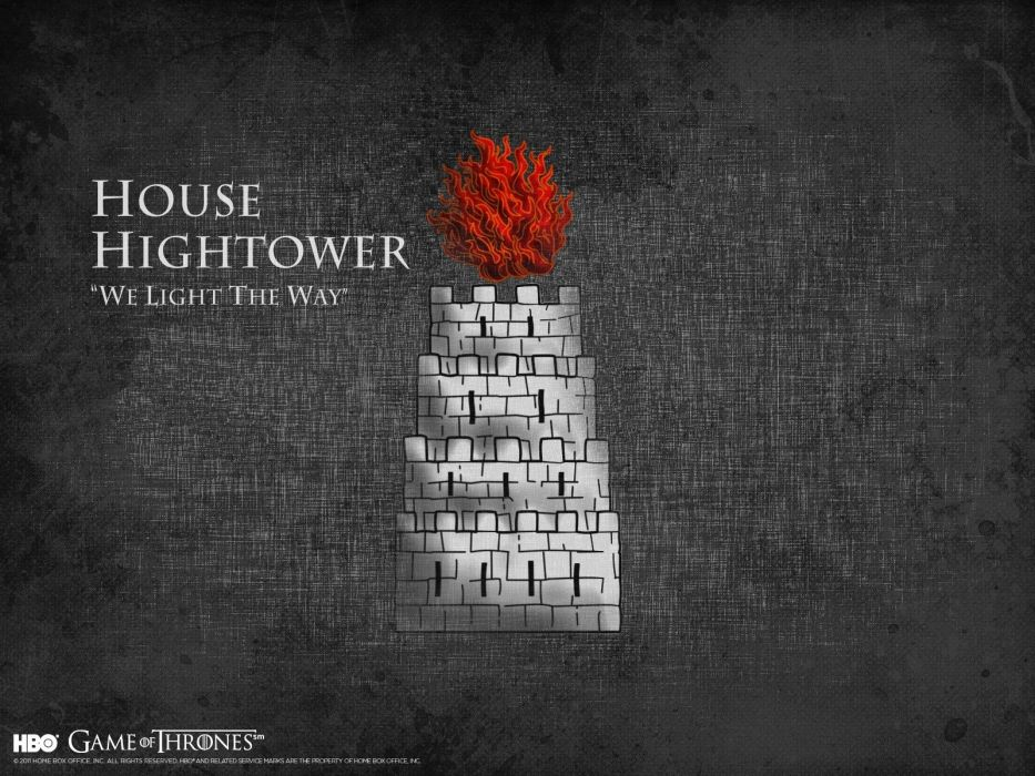 Game of Thrones A Song of Ice and Fire house TV series HBO House Hightower wallpaper