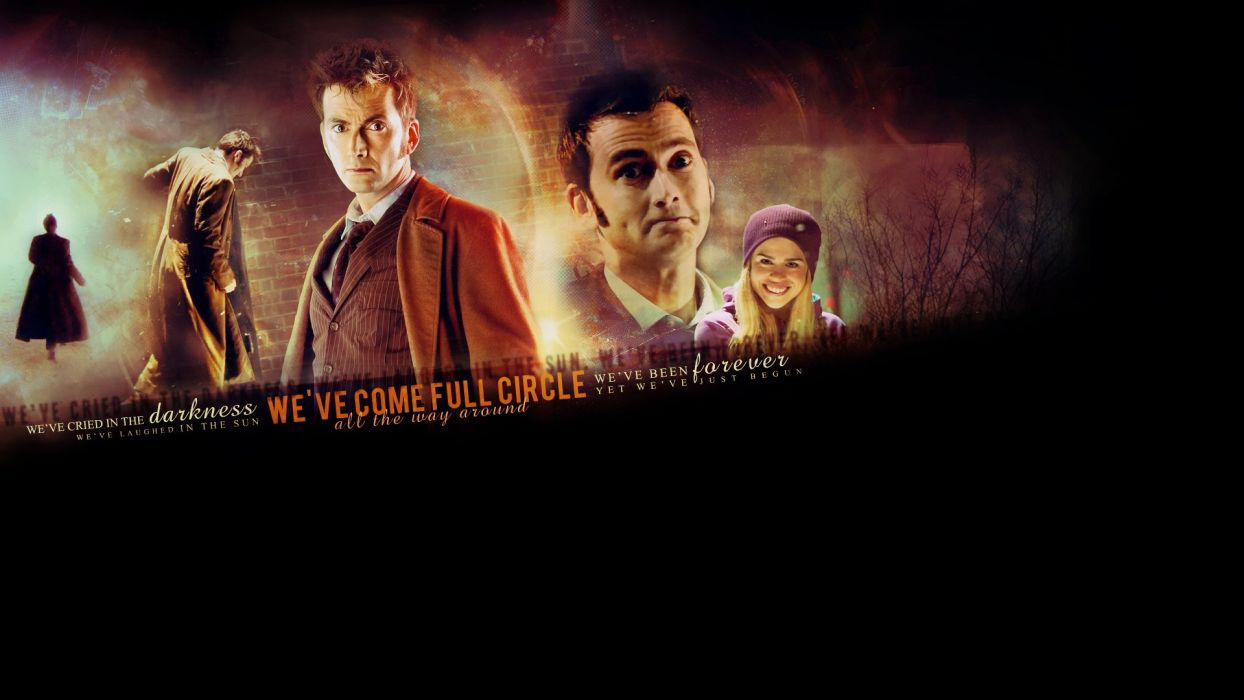 text Rose Tyler David Tennant typography Billie Piper Doctor Who Tenth Doctor wallpaper