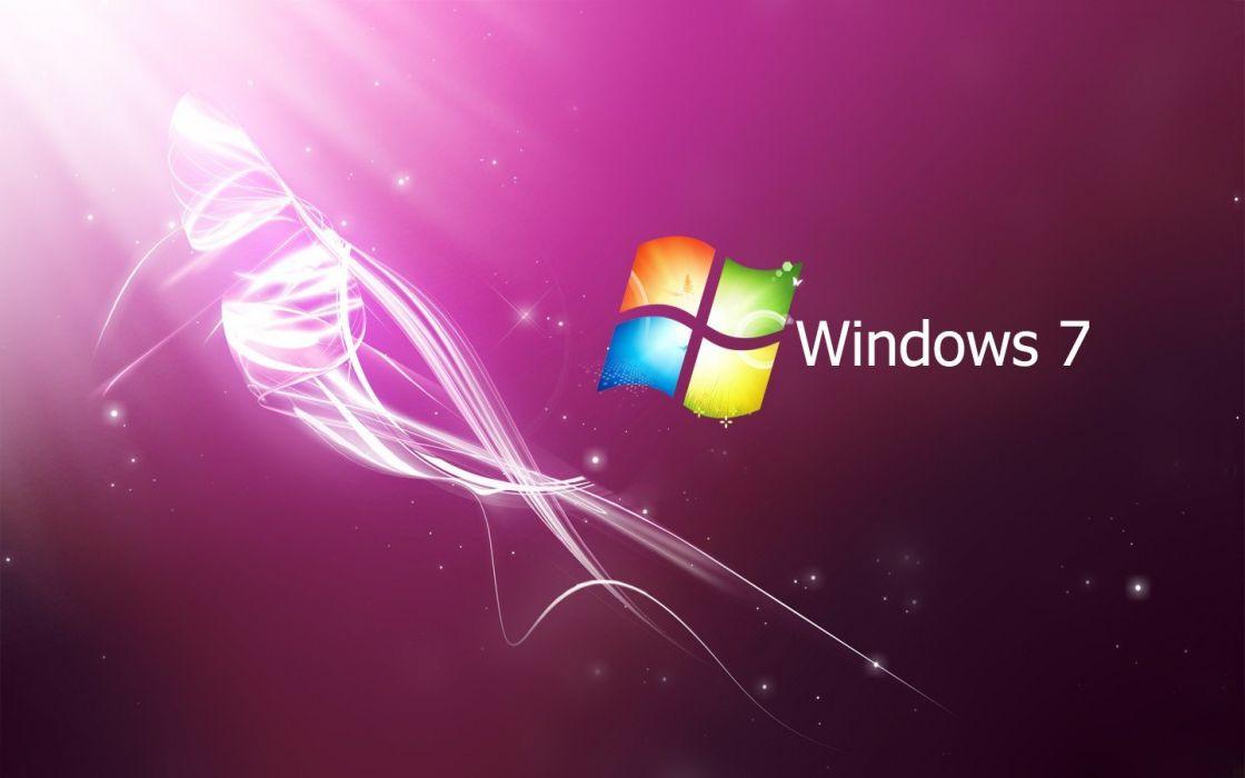 pink Windows 7 wallpaper