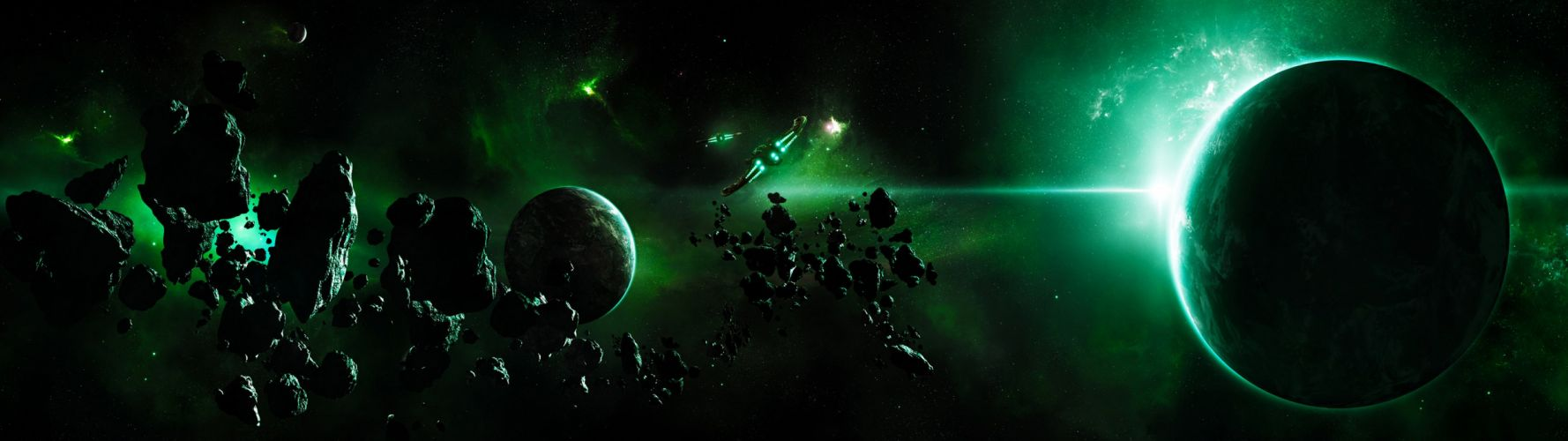 outer space spaceships vehicles wallpaper