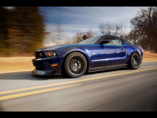 blue muscle cars vehicles Ford Mustang wallpaper