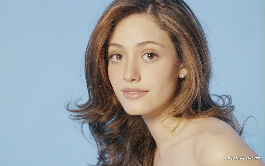 Brunettes Women Actress Long Hair Celebrity Emmy Rossum Blue