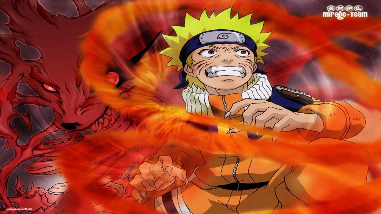 tails red Naruto: Shippuden Kyuubi anime anime boys manga Uzumaki Naruto fan art Jinchuuriki wallpaper
