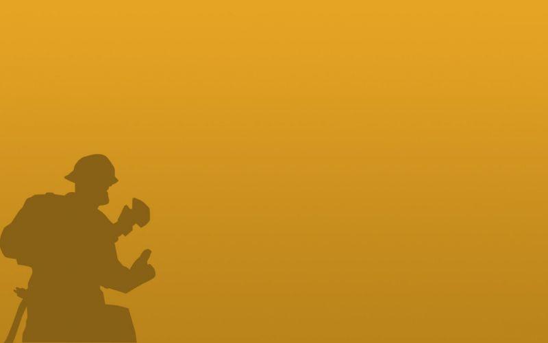 minimalistic Engineer TF2 silhouettes Team Fortress 2 wallpaper