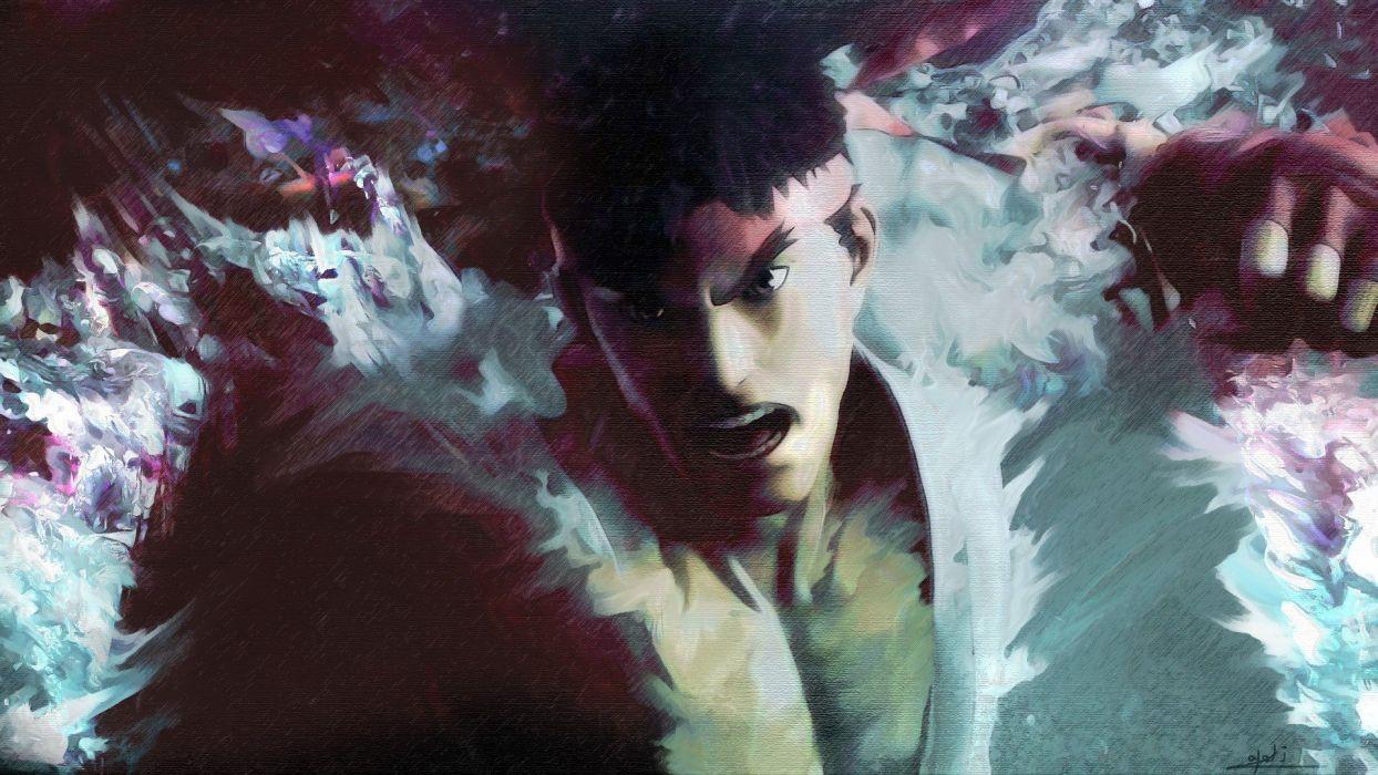 video games Street Fighter Ryu artwork wallpaper
