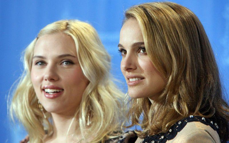 women Scarlett Johansson actress Natalie Portman wallpaper