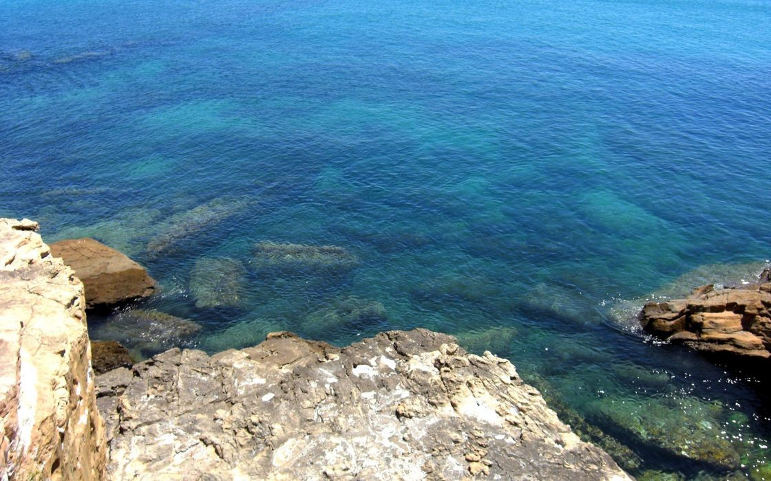 water blue nature coast rocks Portugal sea wallpaper