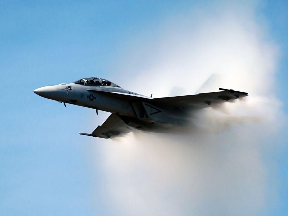 aircraft navy planes vehicles F-18 Hornet sound barrier PrandtlA wallpaper
