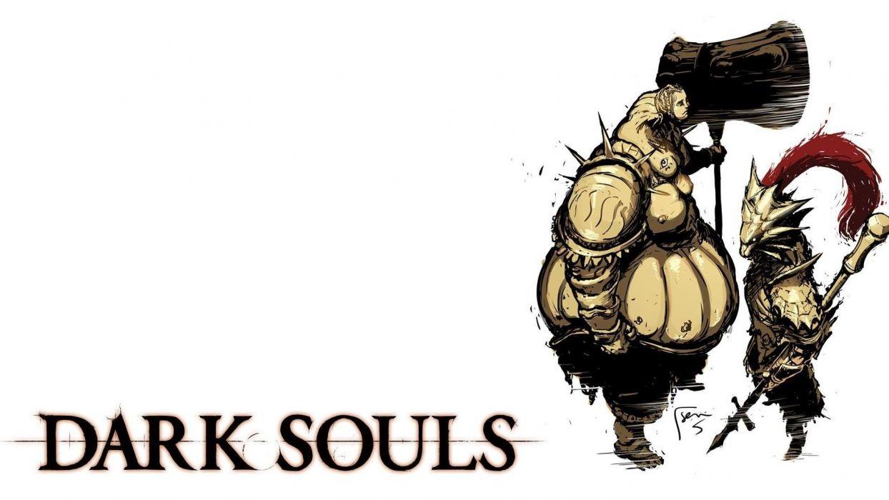 video games minimalistic fantasy art artwork Dark Souls wallpaper