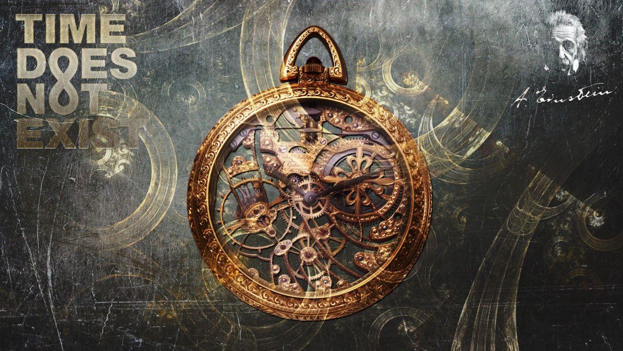 quotes clocks clockwork Albert Einstein digital art time timepieces wallpaper