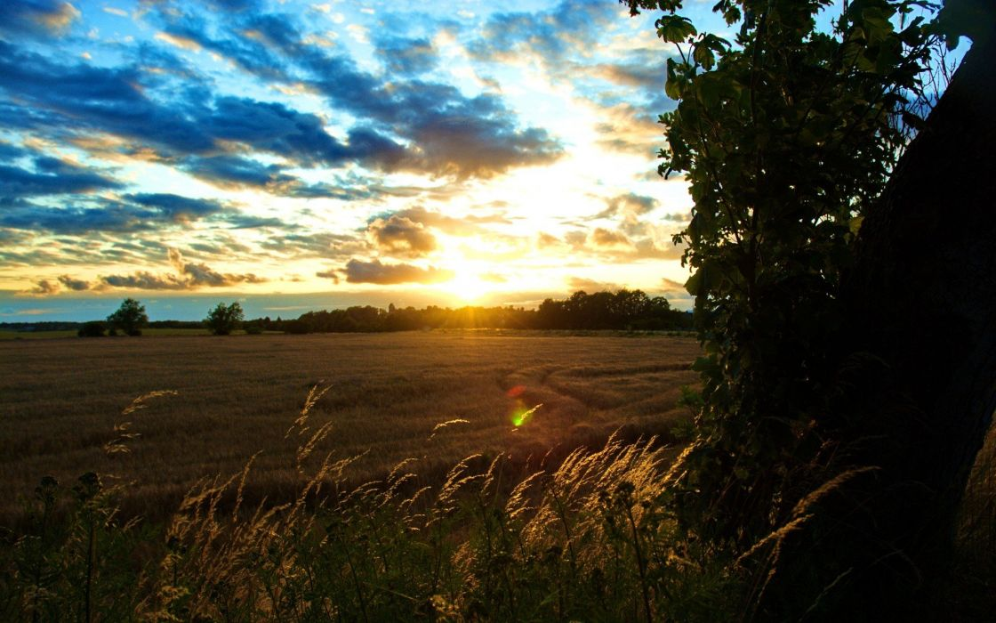 light sunset landscapes HDR photography wallpaper