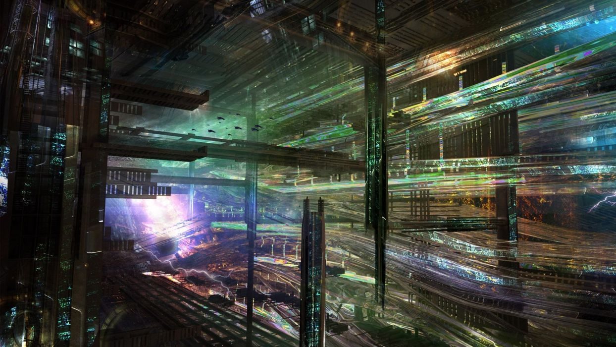 abstract cityscapes futuristic data artwork wallpaper