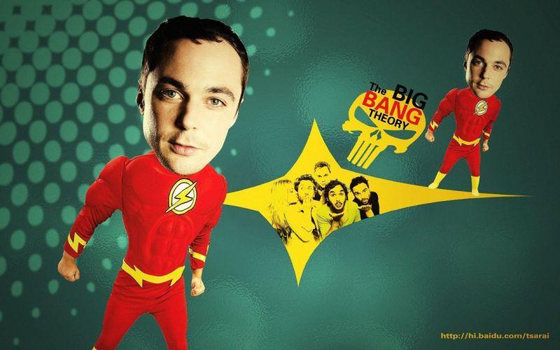 The Big Bang Theory (TV) The Flash logos Jim Parsons Flash (superhero) TV shows wallpaper