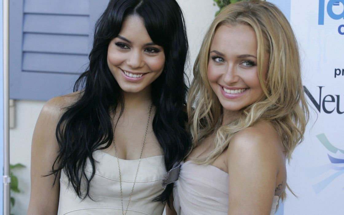 brunettes blondes women actress Hayden Panettiere cleavage celebrity Vanessa Hudgens singers wallpaper
