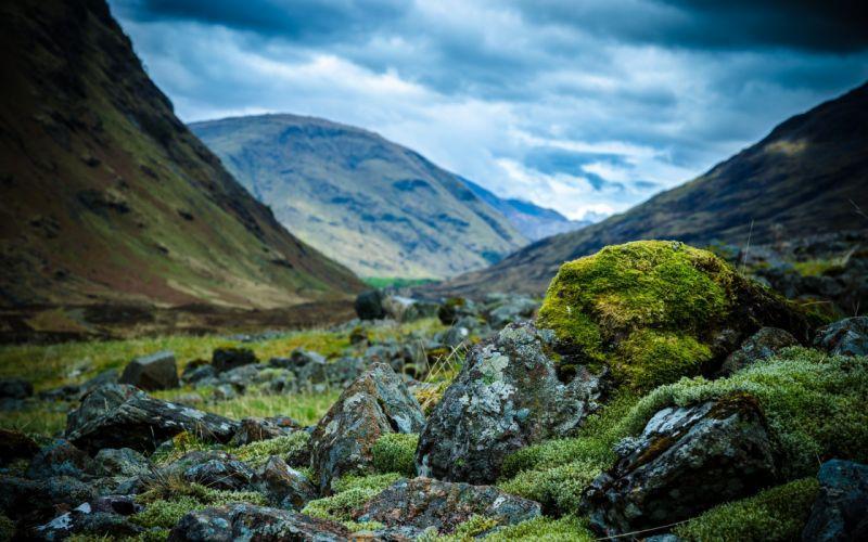 landscapes nature Scotland Highlands wallpaper