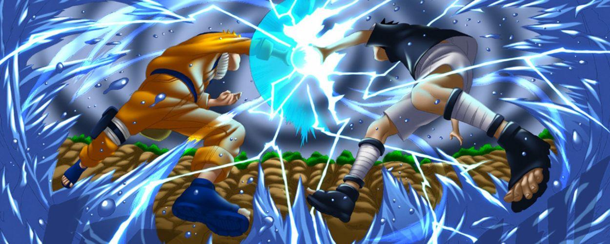 water Uchiha Sasuke Naruto: Shippuden battles Uzumaki Naruto rasengan chidori wallpaper