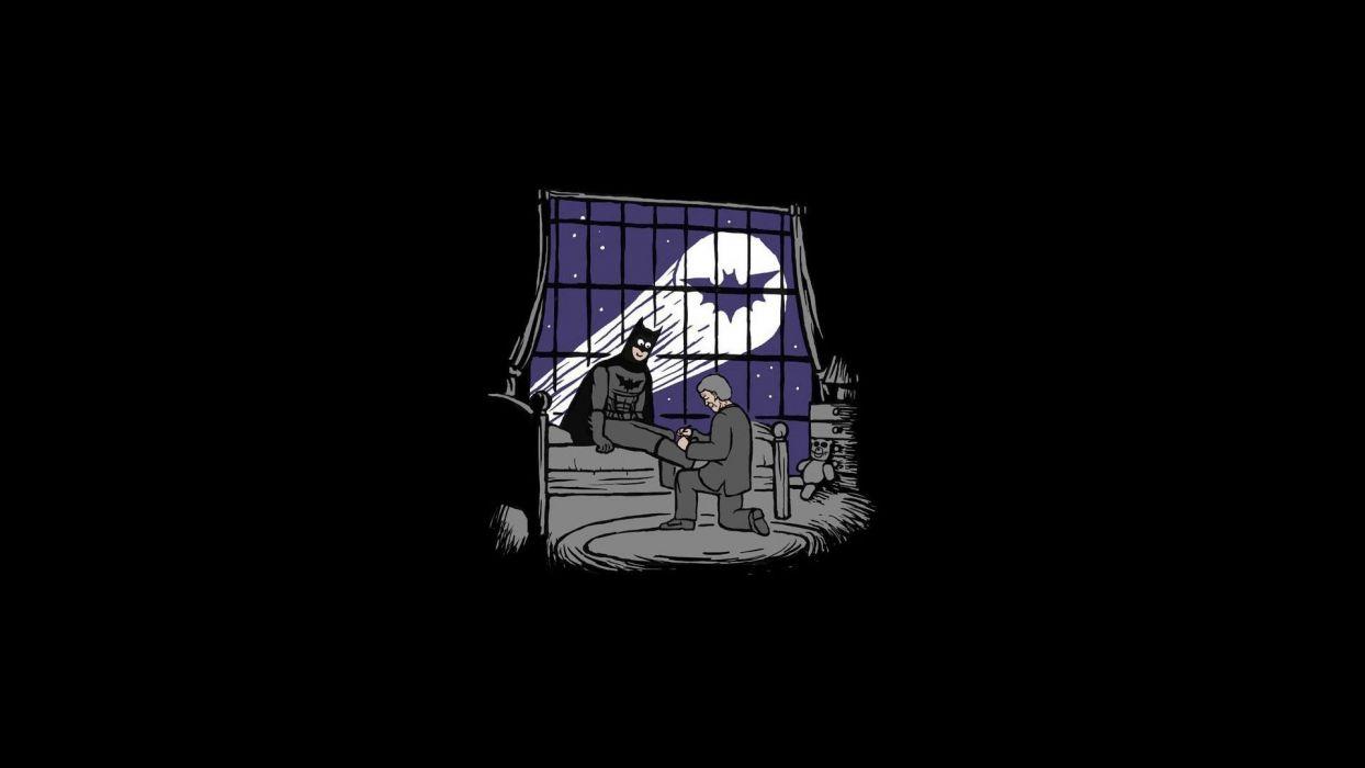 Batman minimalistic funny comic wallpaper