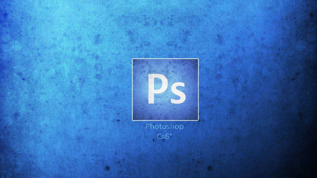 program Adobe logos photo manipulation blue background wallpaper