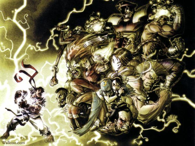 Street Fighter illustrations wallpaper