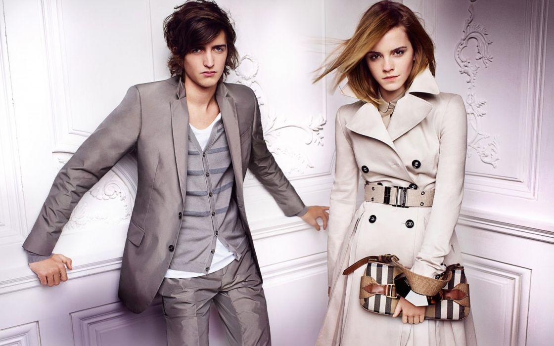 Emma Watson fashion  fashion photography Burberry wallpaper
