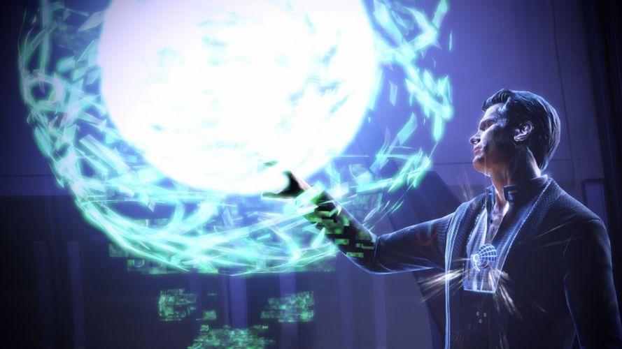 video games Mass Effect Illusive Man Mass Effect 3 wallpaper