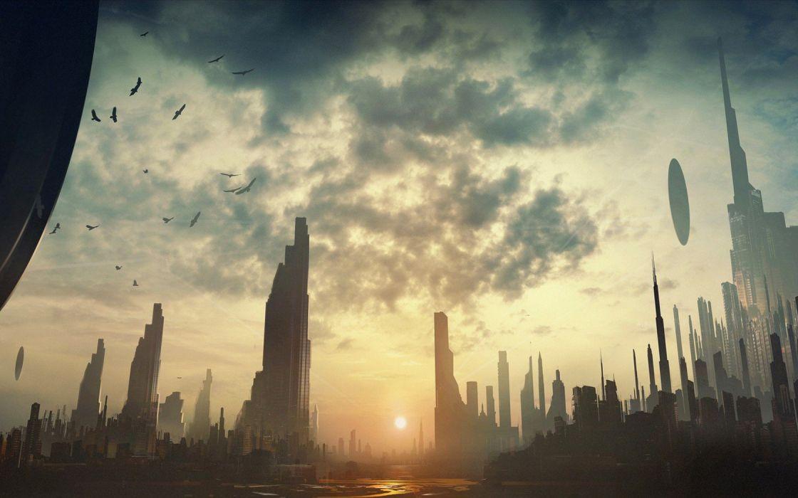 cityscapes futuristic buildings artwork wallpaper