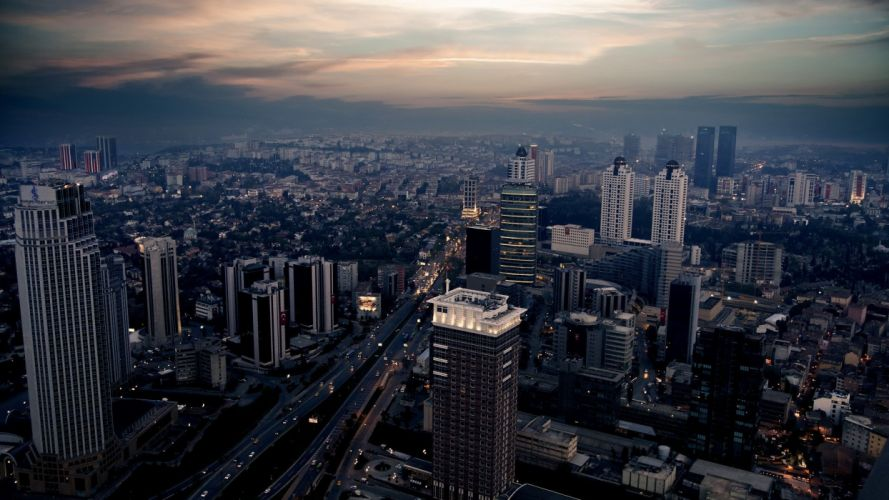 landscapes cityscapes architecture skyscrapers Turkey Istanbul wallpaper