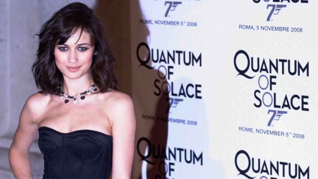 brunettes women actress celebrity Olga Kurylenko wallpaper