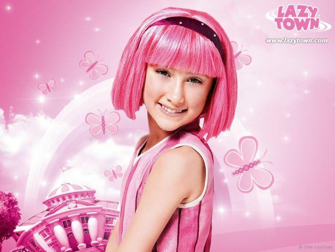 Lazytown pink hair headbands Julianna Rose Mauriello pink dress wallpaper