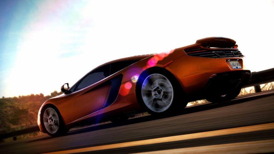 sunset video games McLaren MP4-12C Need for Speed Hot Pursuit wallpaper