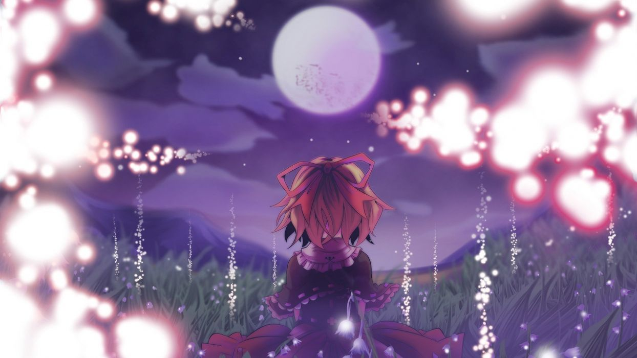 video games Touhou cherry blossoms Moon Medicine Melancholy anime girls wallpaper