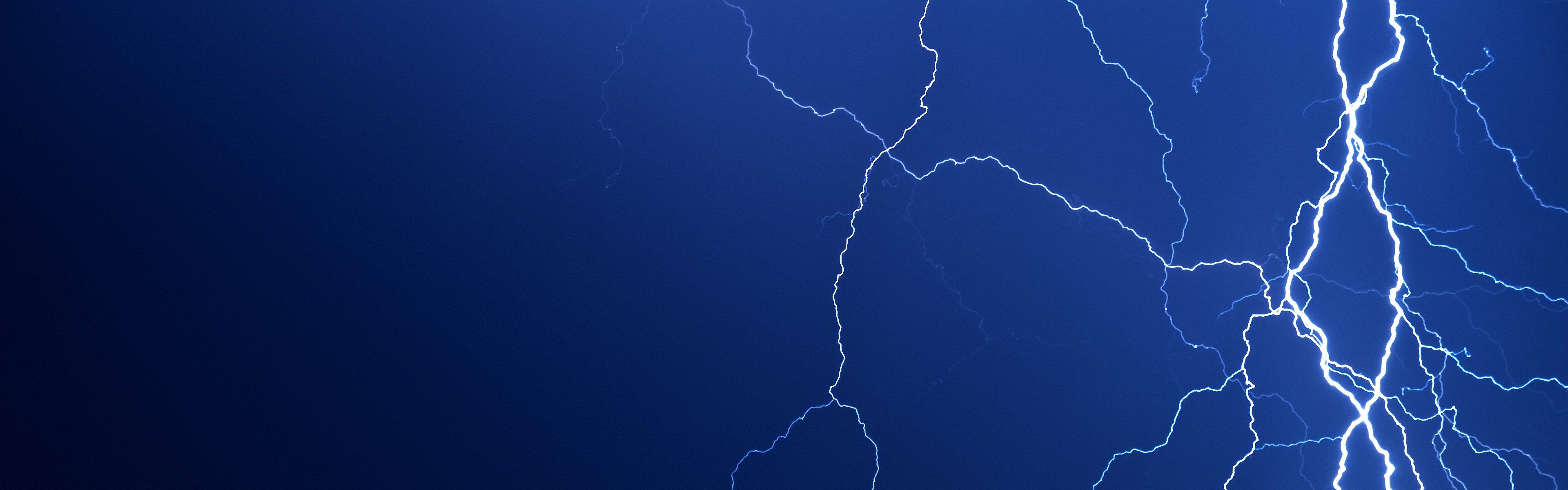Background image 3840x1200 - Jpg 3840x1200 Thor Lightning Bolt Background
