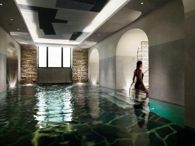 women swimming pools wallpaper