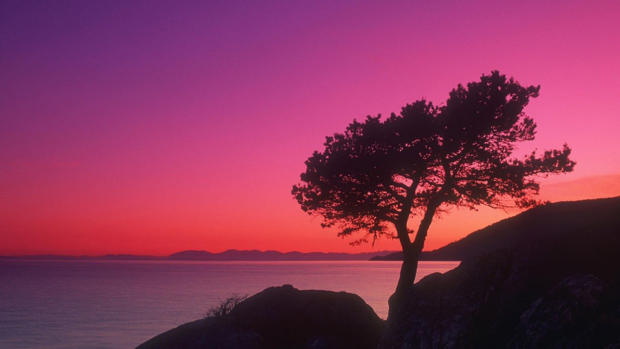 landscapes multicolor British Columbia evening wallpaper
