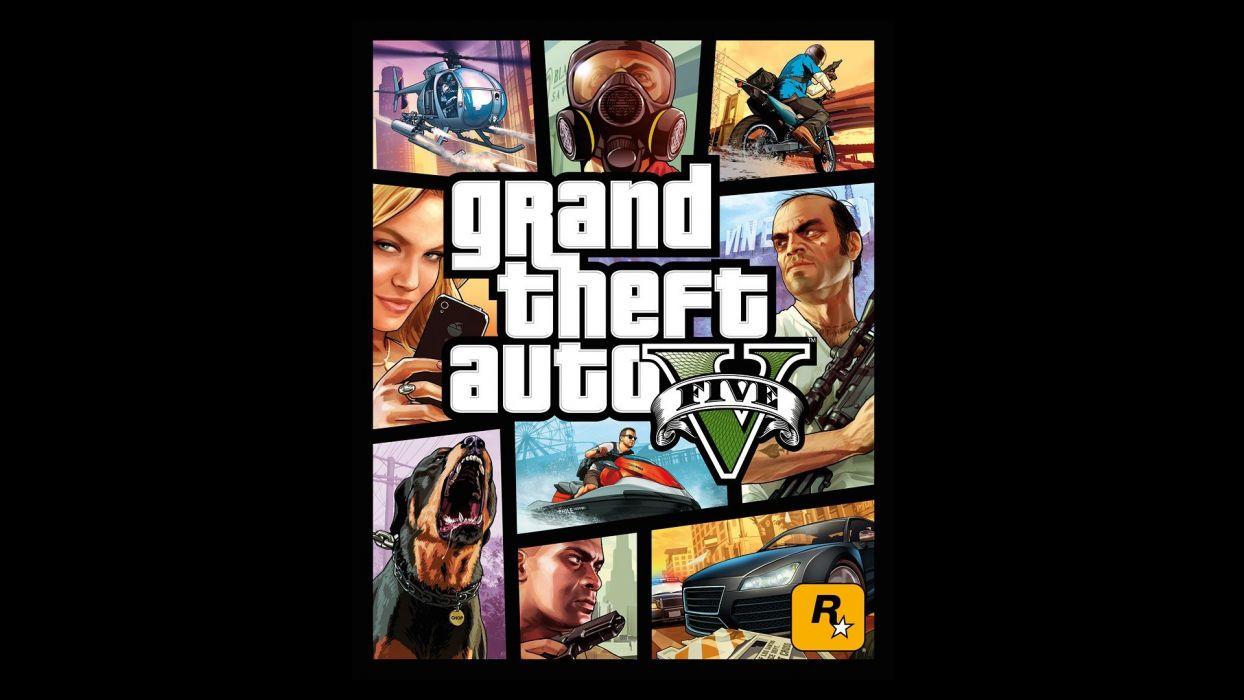 video games Grand Theft Auto Rockstar Games cover art GTA V wallpaper
