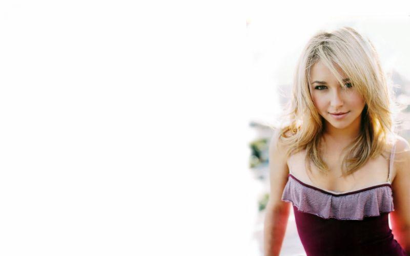 blondes women actress Hayden Panettiere models celebrity simple background wallpaper