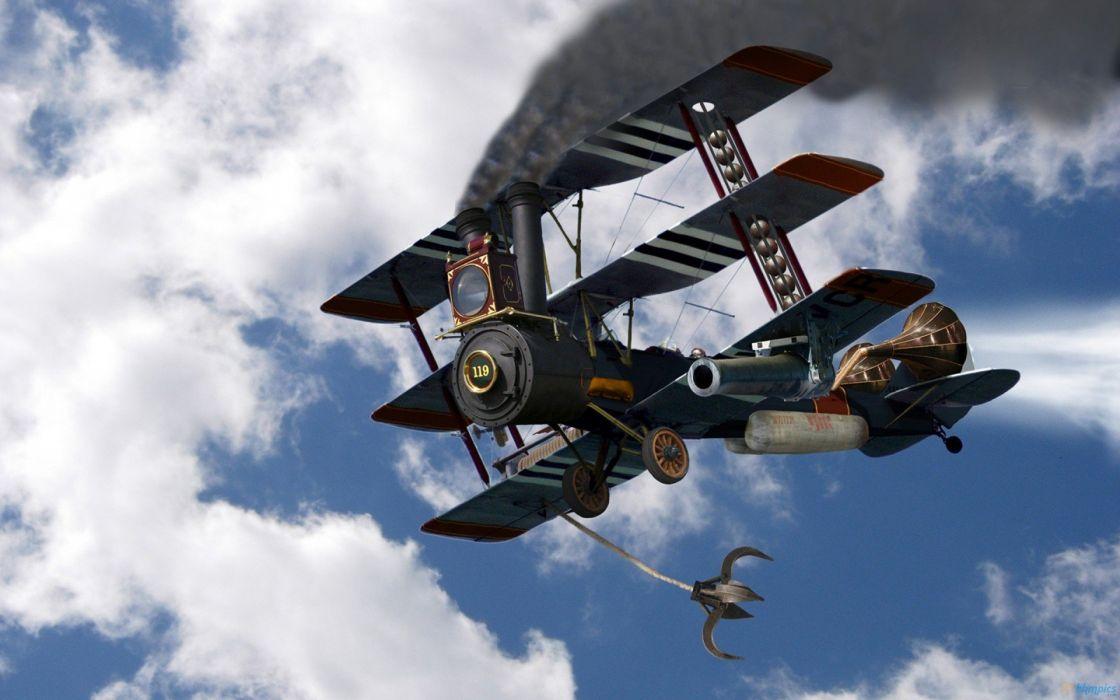 aircraft steampunk wallpaper