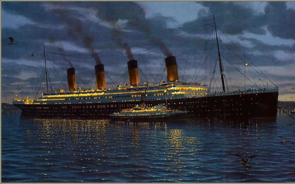 ships Titanic vehicles wallpaper