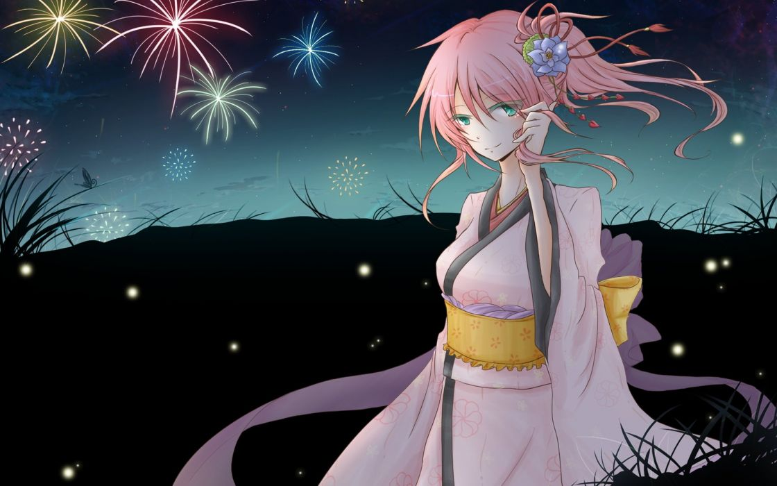 Vocaloid Megurine Luka Japanese clothes wallpaper
