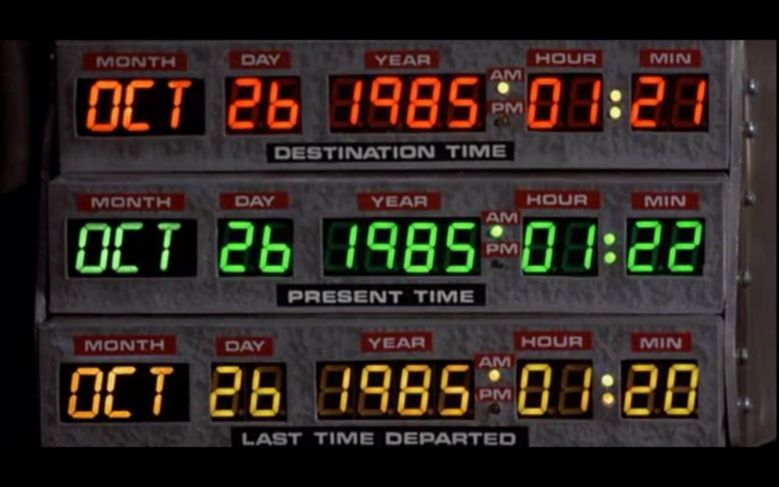 movies numbers Back to the Future digital art dates wallpaper