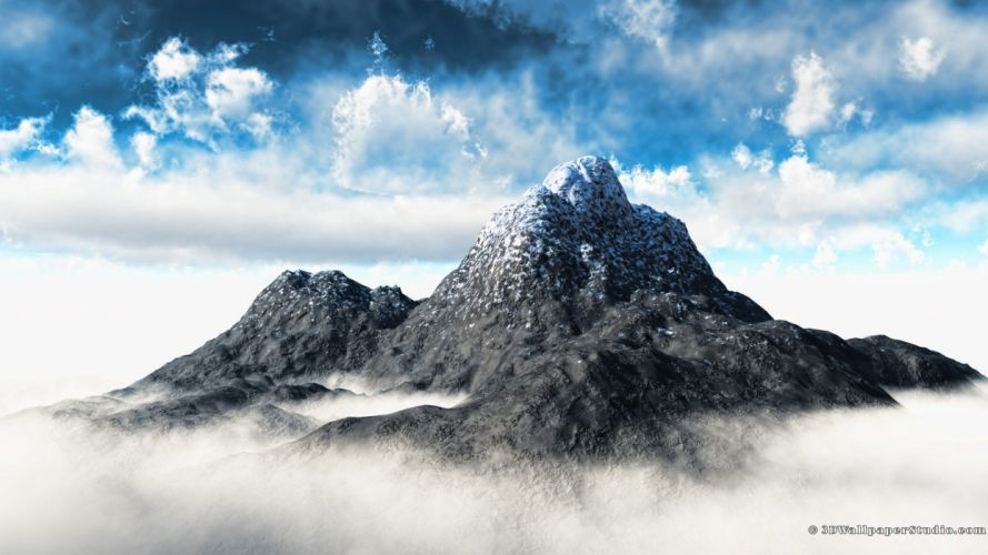 mountains clouds skyscapes wallpaper