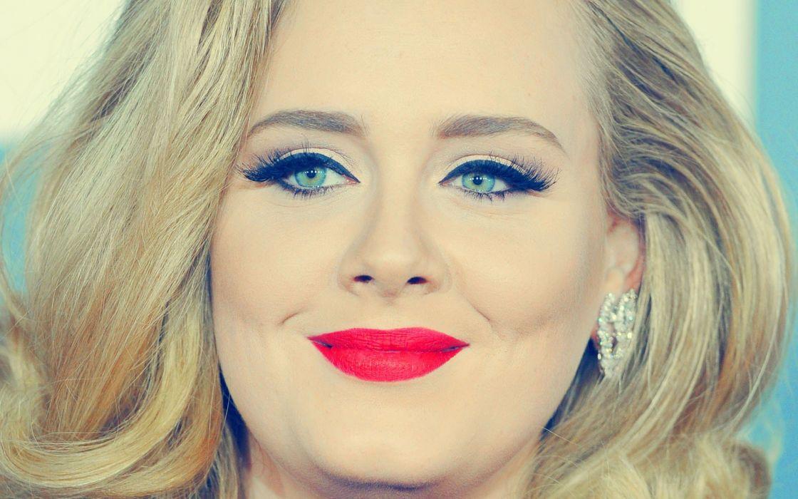 women music singers faces Adele (singer) wallpaper