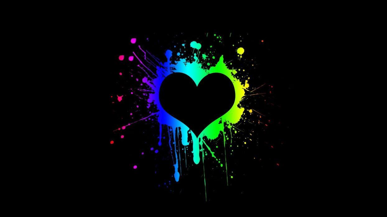 abstract black hearts wallpaper