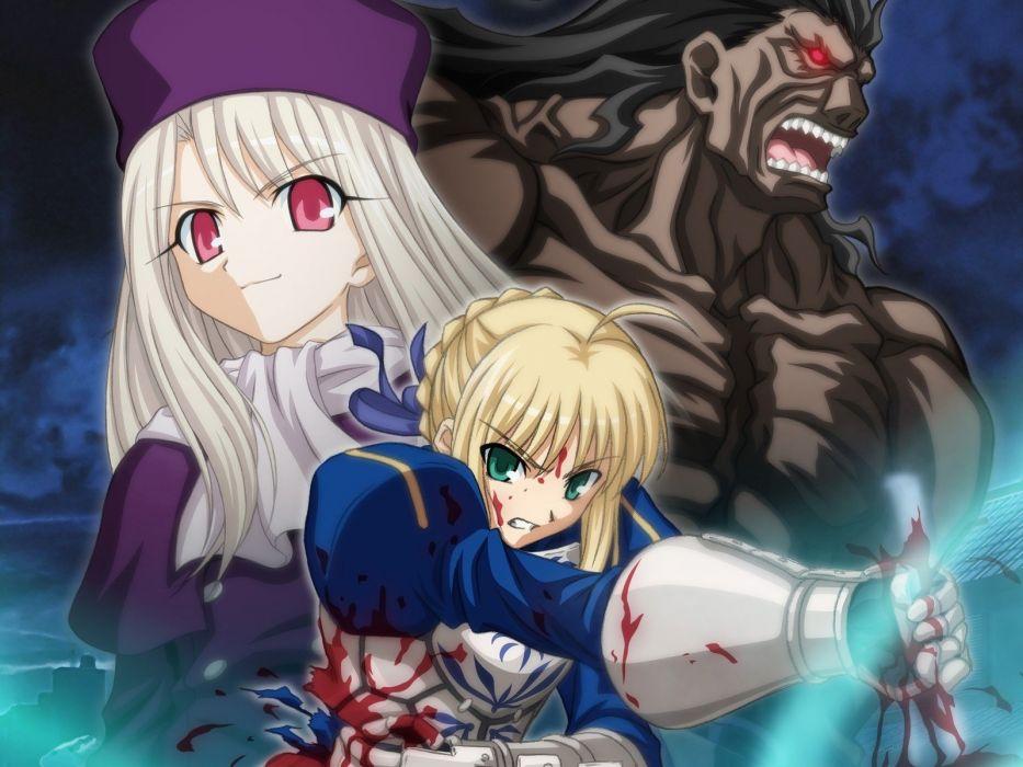Fate/Stay Night Saber  Irisviel von Einzbern Berserker (Fate/Stay Night) Fate series wallpaper