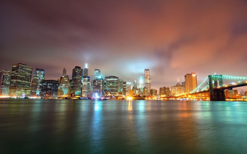 cityscapes buildings reflections wallpaper