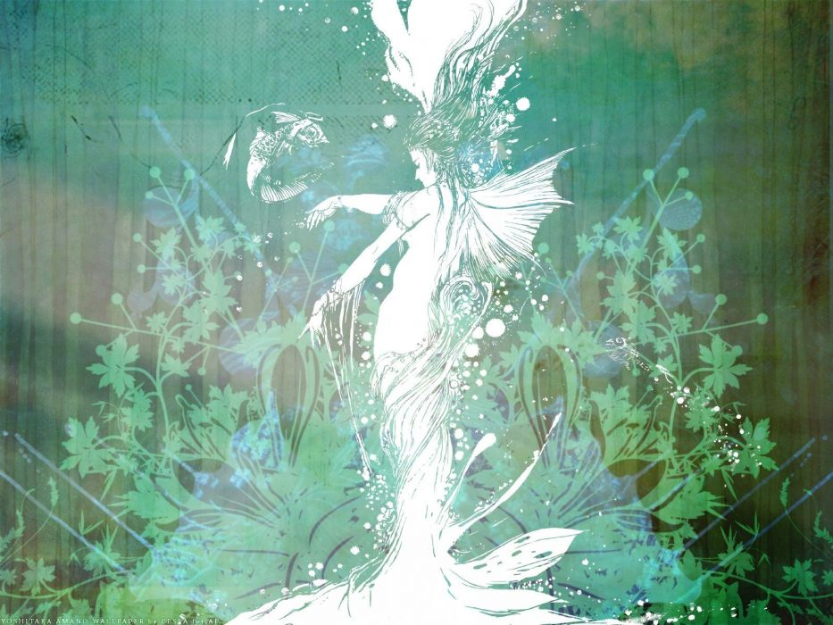 abstract fantasy art spirit mermaids artwork wallpaper