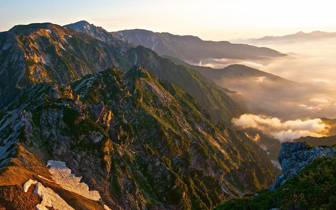 sunset sunrise mountains landscapes nature hills sunlight skies cloud wallpaper